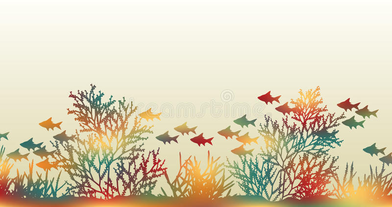 Color coral stock illustration