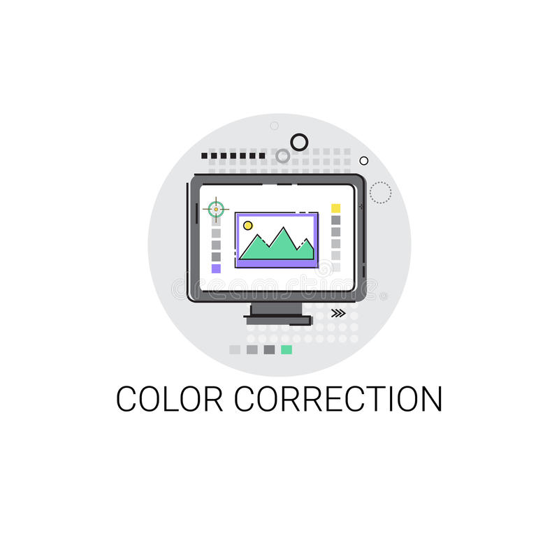 Color Correction Camera Film Production Industry Icon royalty free illustration