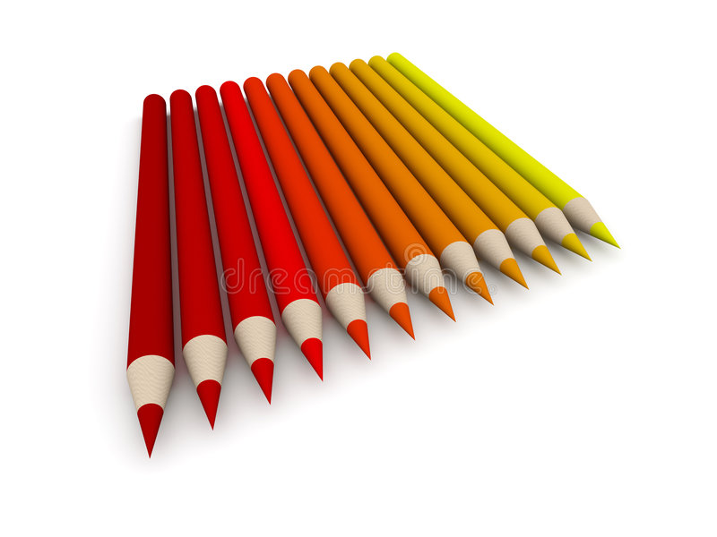 color crayonredspectrumen stock illustrationer