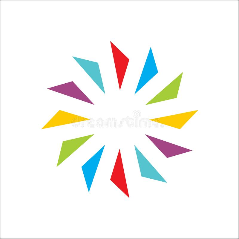 Color creative of circle abstract vector and logo design or template vector illustration