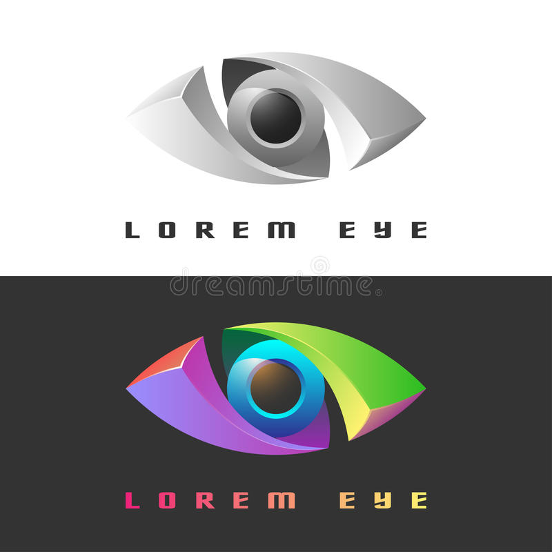 Color creative eye icon. In vector stock illustration