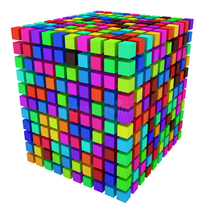 Download Color Cube stock illustration. Illustration of over, many - 15183552