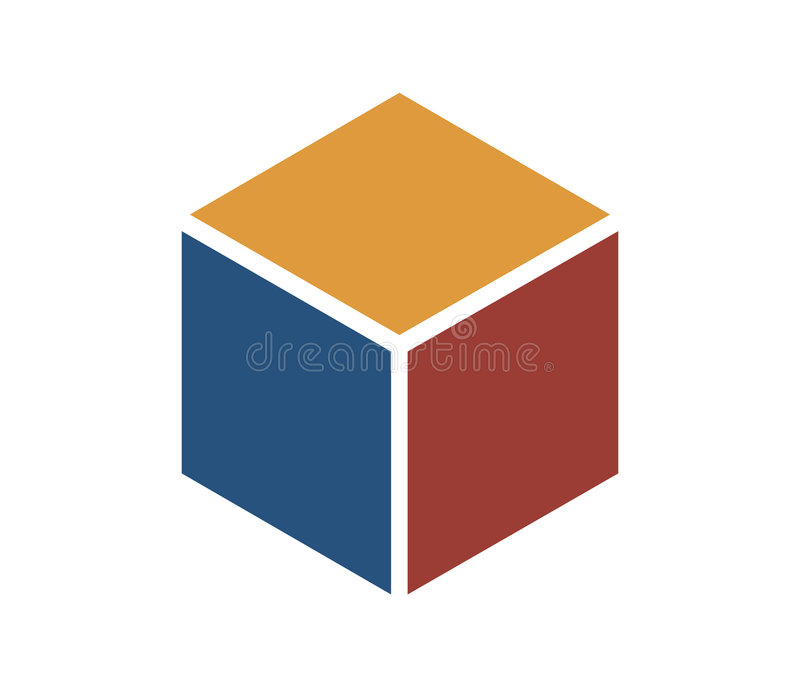 Download Color Cube Icon stock illustration. Illustration of blue - 21098
