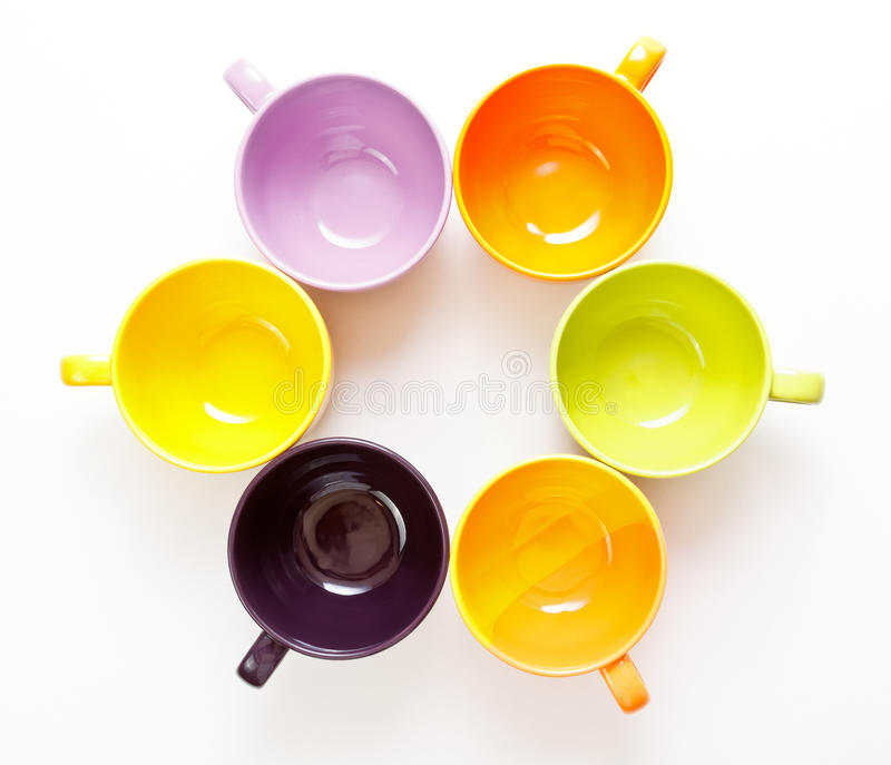 Download Color cups stock image. Image of orange, utensil, style - 26804241