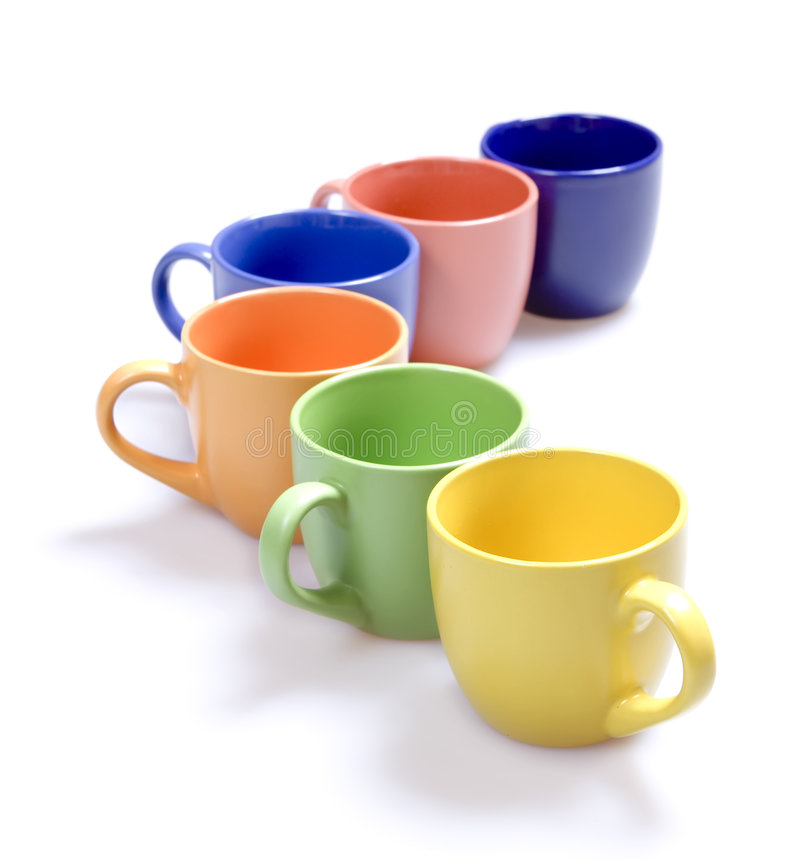 Download Color cups stock image. Image of drink, yellow, nobody - 7884727