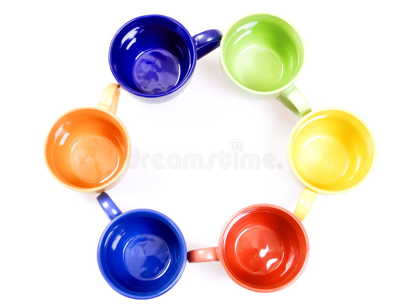 Download Color cups stock photo. Image of empty, saucer, objects - 7884766
