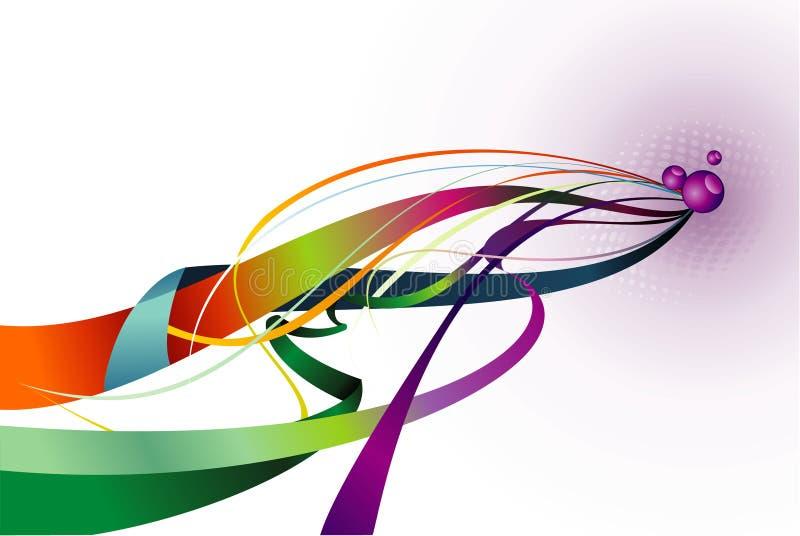 Color curves. Composition illustration over a white background stock illustration