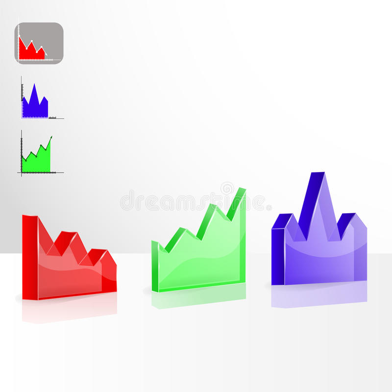 Color 3D Chart  Vector Stock Vector