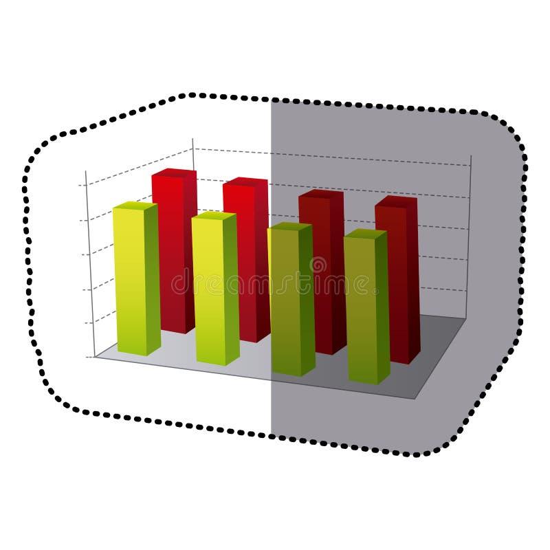 Color data statistic graphics concepto. Illustration design vector illustration