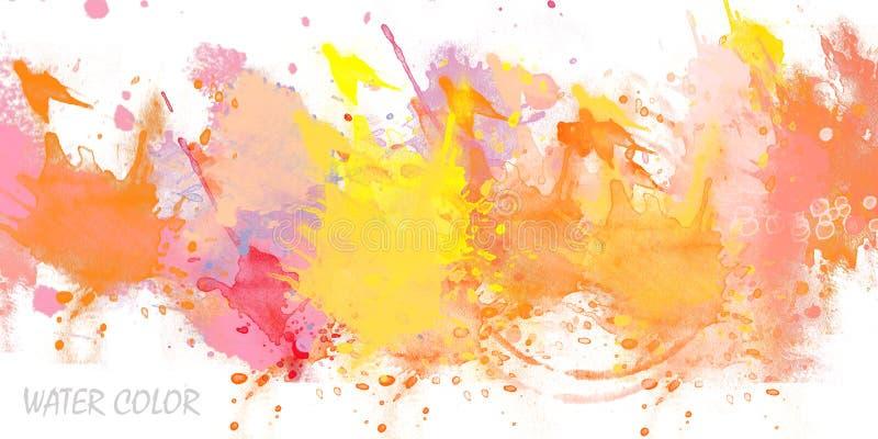 Color de agua stock de ilustración