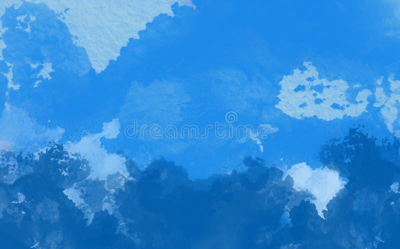 Color de agua abstracto, pintura azul fotografía de archivo libre de regalías