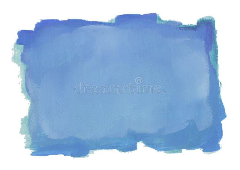Color de agua azul ilustración del vector