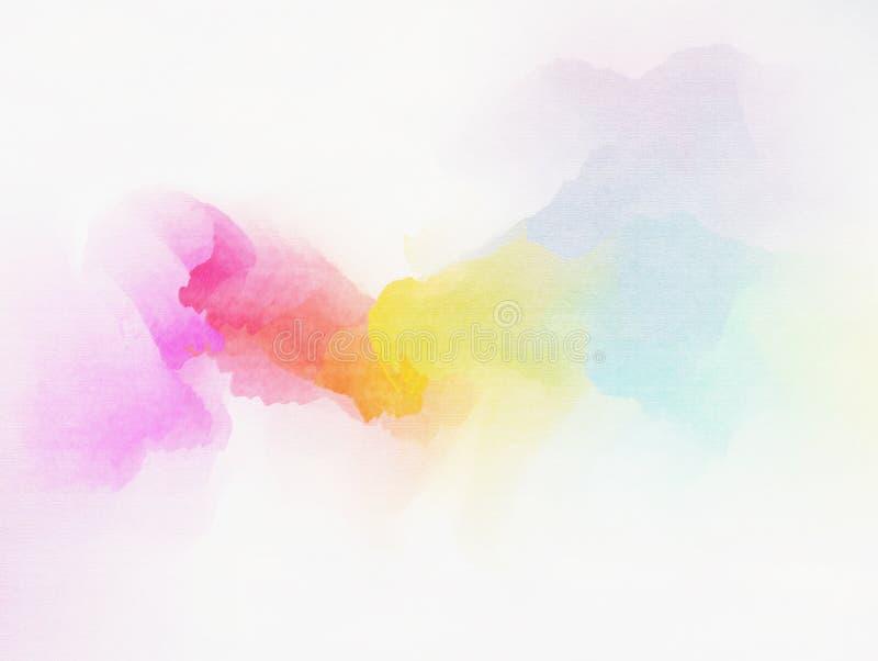 Color de agua colorido abstracto para el fondo stock de ilustración