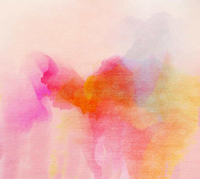 Color de agua colorido abstracto para el fondo ilustración del vector