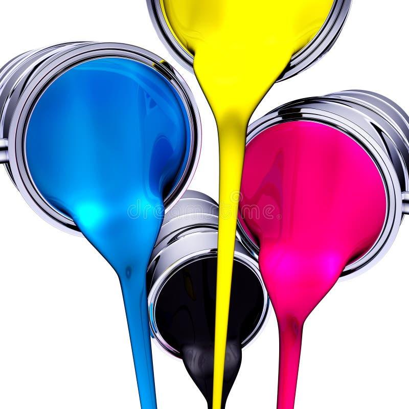 Color de CMYK ilustración del vector