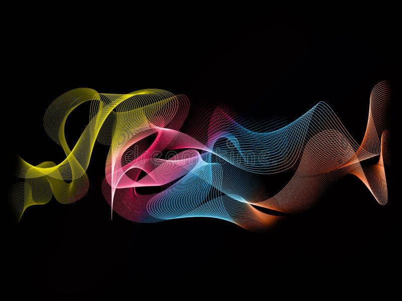 Color de fondo abstracto de la onda imagen de archivo