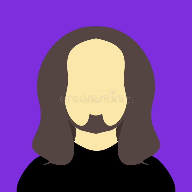 Color de fondo gráfico del pelo del hombre del eje de balancín de la gente del ejemplo largo del vector stock de ilustración