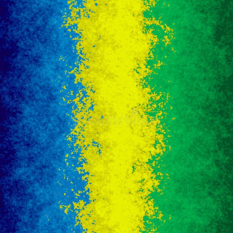 Color de fondo verde amarillo azul manchado de la textura del modelo - arte moderno de la pintura - efecto de la acuarela - trico ilustración del vector