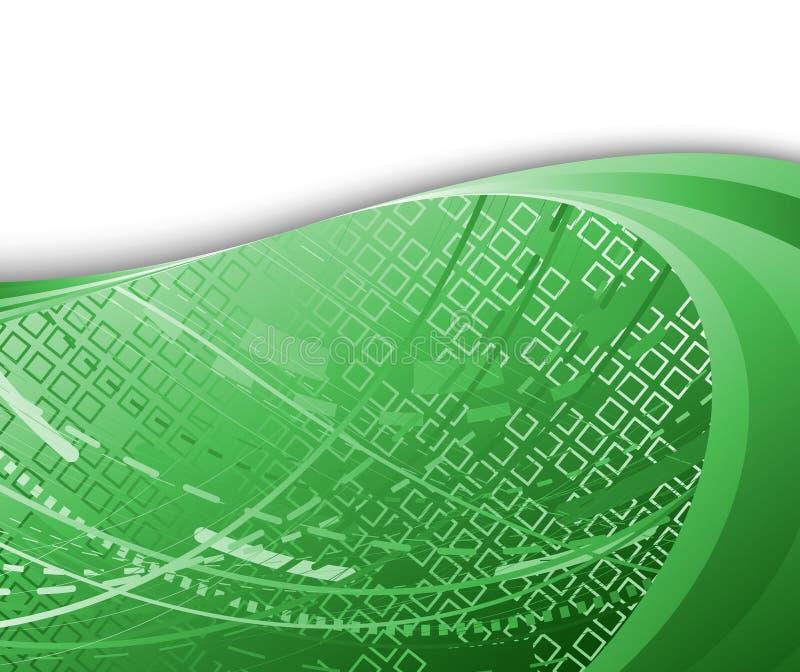 Color de fondo verde de alta tecnología ilustración del vector