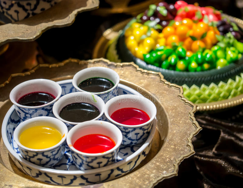 Color de la categoría alimenticia para pintar las frutas de imitación deletable (lo fotografía de archivo libre de regalías