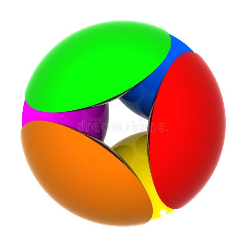 Color de la esfera stock de ilustración