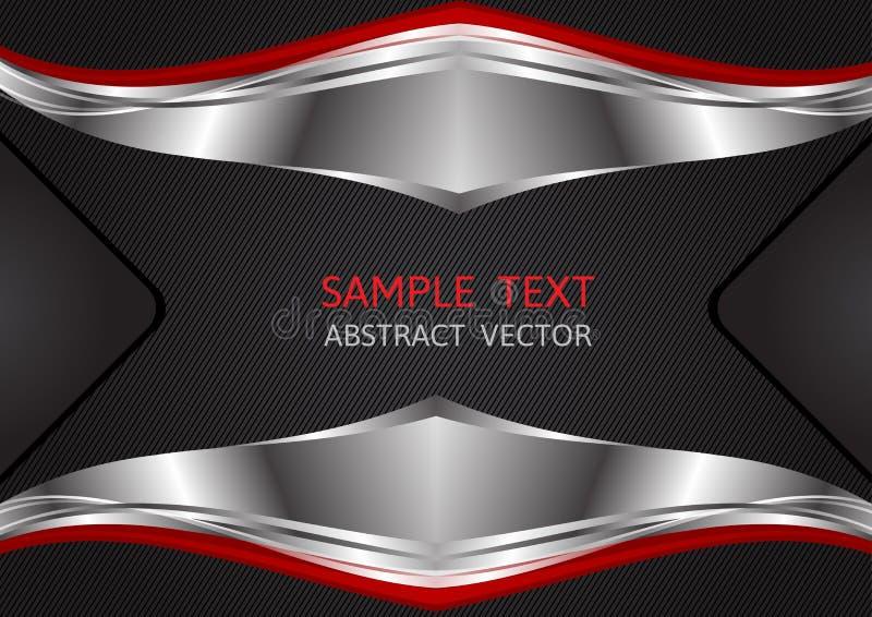 Color de la plata, rojo y negro, fondo abstracto geométrico del vector libre illustration