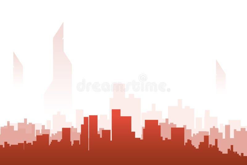 Color de la silueta de la ciudad libre illustration