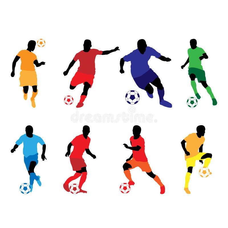 Color De La Silueta Del Fútbol Ilustración del Vector - Ilustración ...