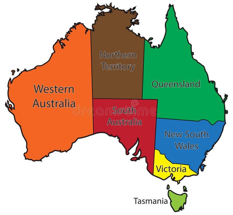 Color De Los Territorios De Australia Stock