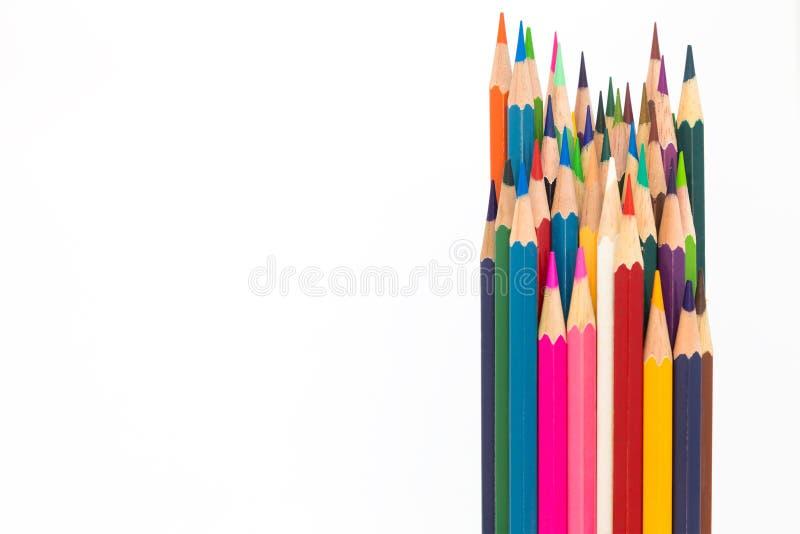 Color de madera en el fondo blanco foto de archivo