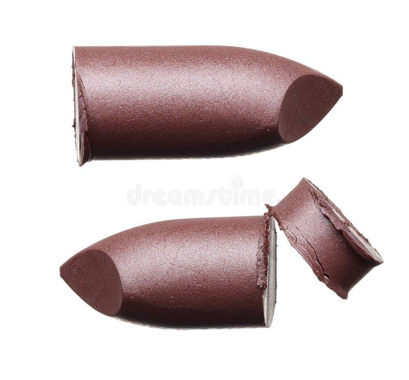 Color de moda machacado del lápiz labial fotografía de archivo libre de regalías