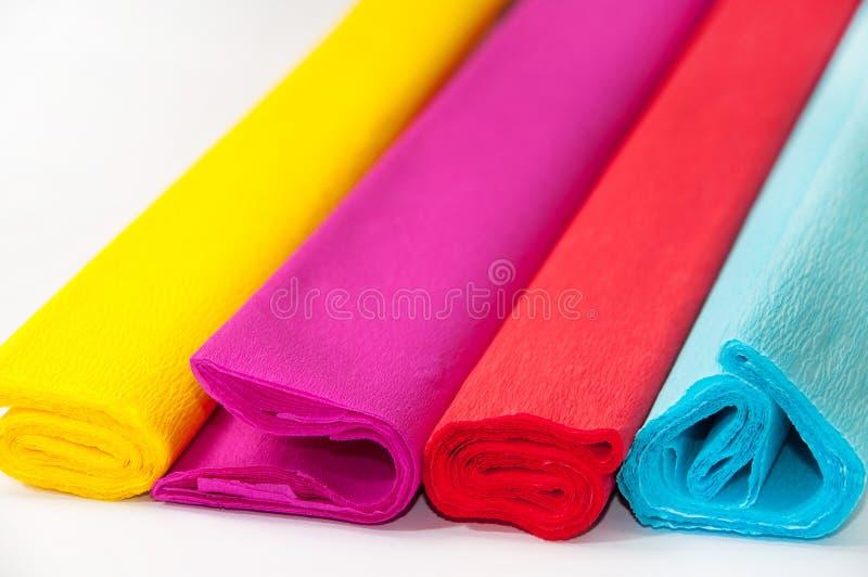 Color de papel de crespón fotografía de archivo