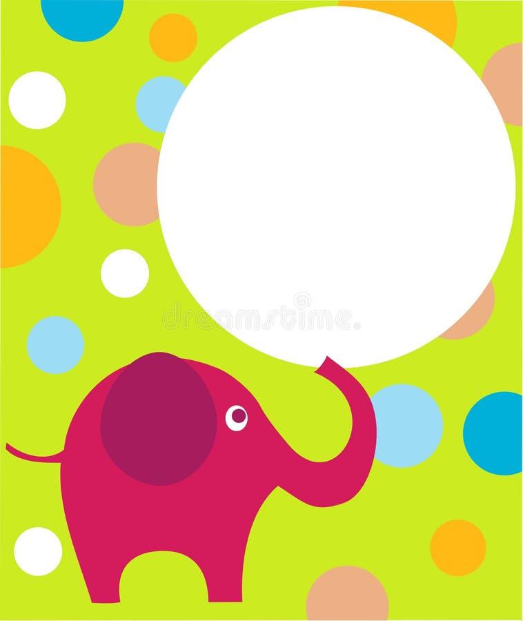 Color de rosa eilephant en fondo colorido ilustración del vector