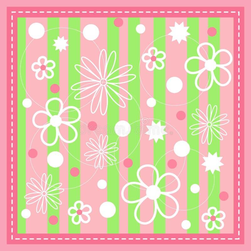 Color de rosa inconsútil con la puntada. stock de ilustración