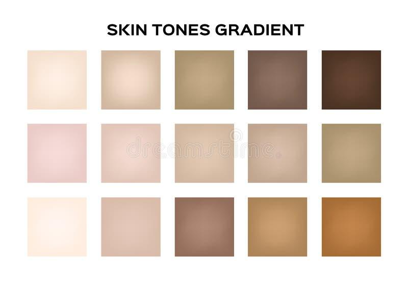 Color del índice del tono de piel Infographic stock de ilustración