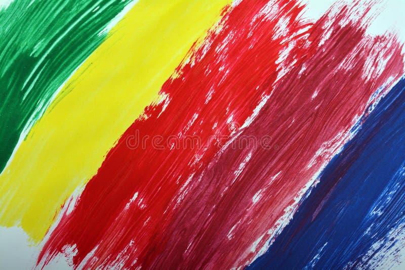 Color del aguazo pintado imagen de archivo libre de regalías