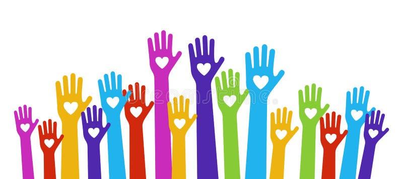 Color del amor de las manos libre illustration
