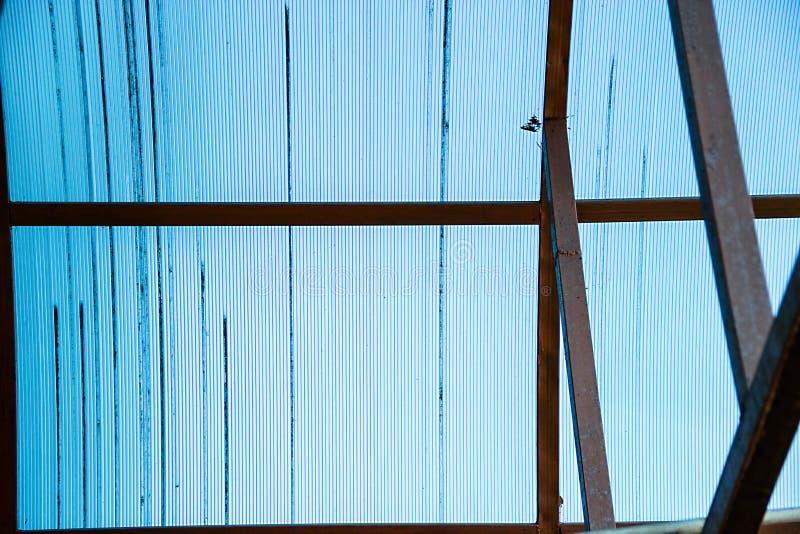 Color del azul del policarbonato imagenes de archivo
