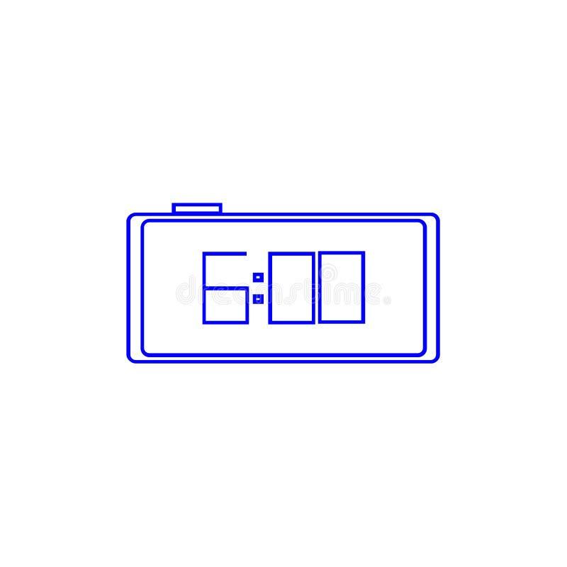 Color del icono del reloj Seis relojes del ` de o libre illustration