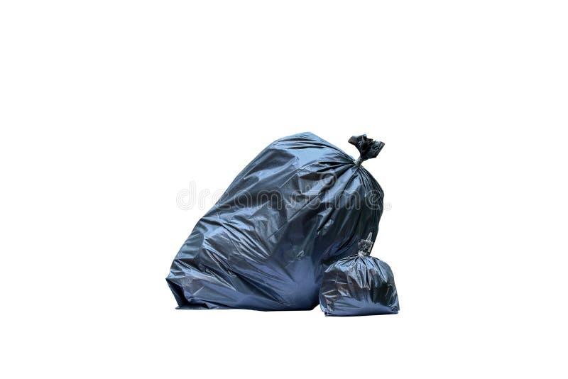 Color del negro del bolso de basura fotos de archivo libres de regalías