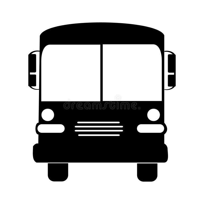 Color del negro del vector del ejemplo del autob?s escolar de la silueta ilustración del vector