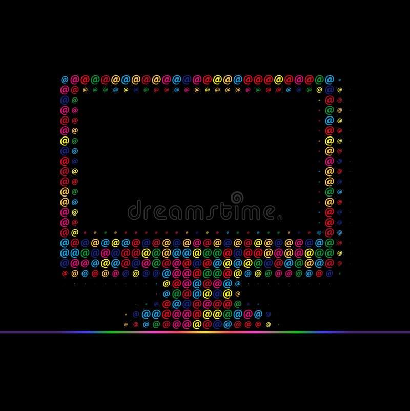 Color del ordenador fotografía de archivo