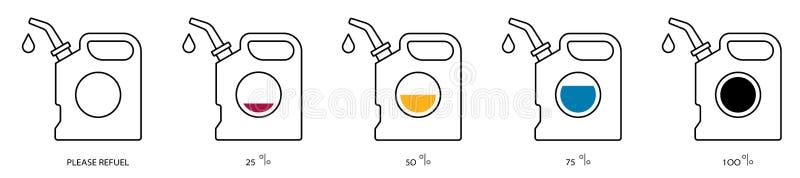 Color del sistema del contorno del aceite del bote libre illustration