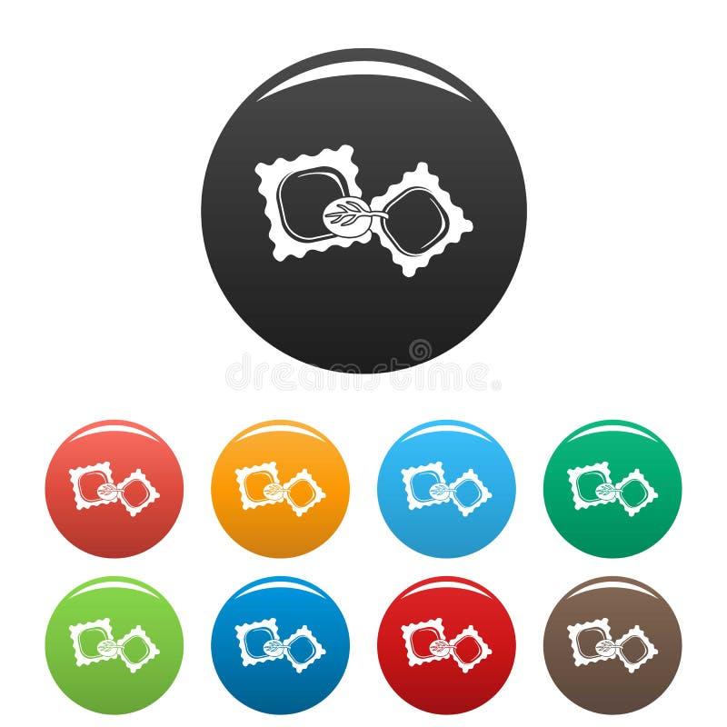 Color del sistema de los iconos de las galletas de la espinaca libre illustration