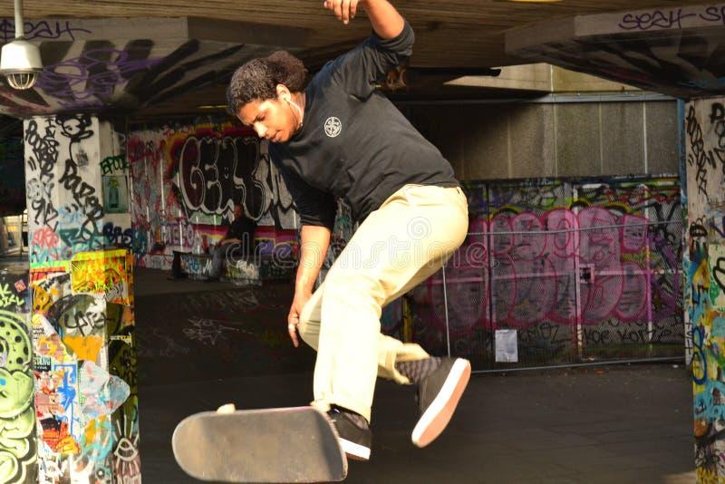 Color del Skateboarder de Londres fotos de archivo