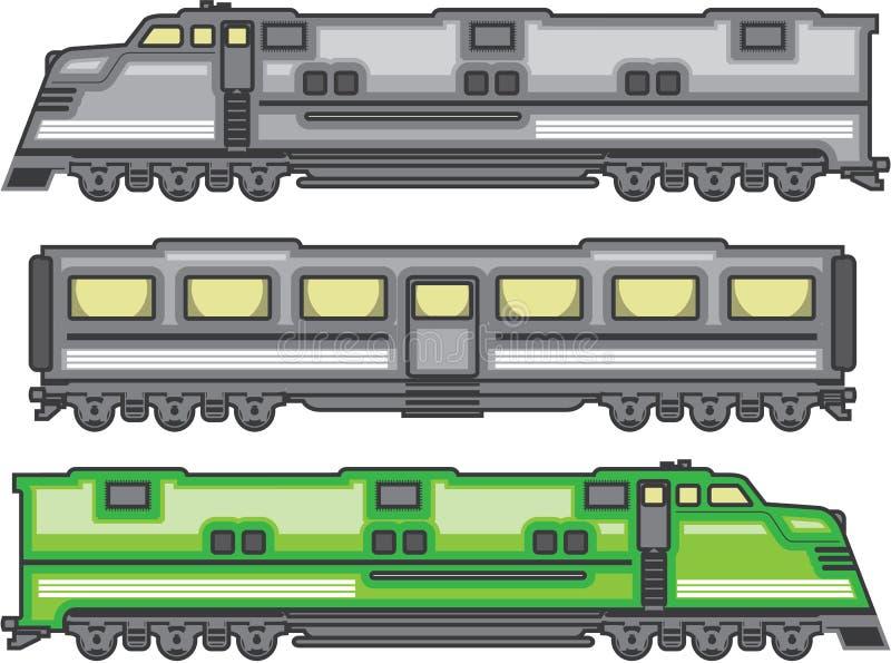 Color del tren stock de ilustración