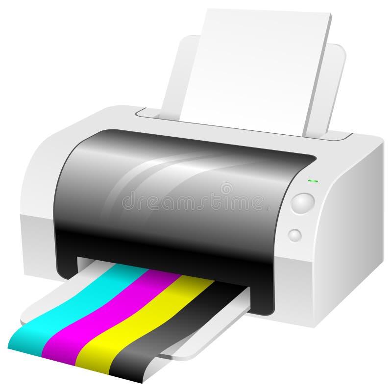 color den moderna skrivaren stock illustrationer