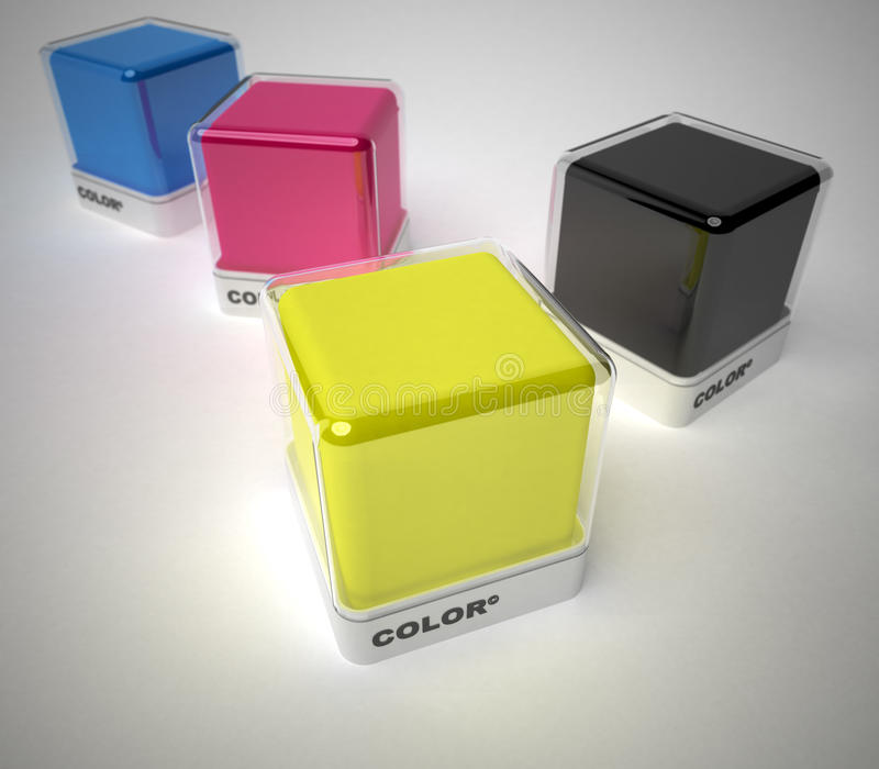 Color and design. Design color blocks in a variety of colors royalty free stock photo