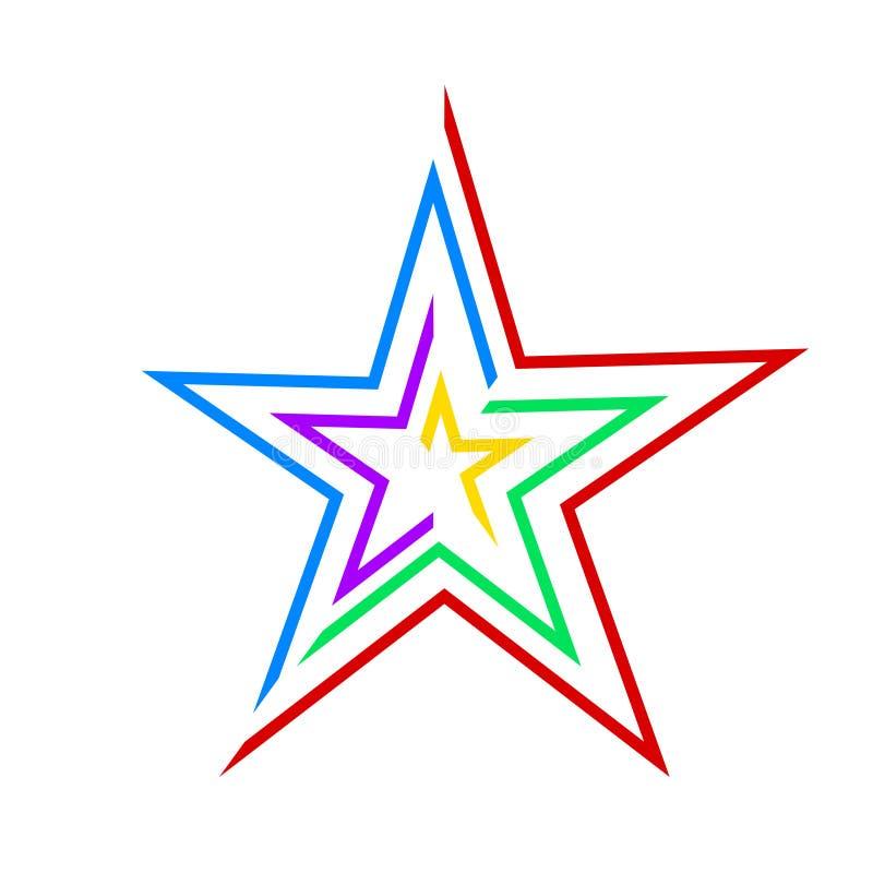 Color design star icon business logo, stock vector illustration vector illustration