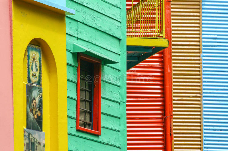 A color district La Boca in Buenos Aires, Argentina. Colorful Buenos Aires in Argentina stock image